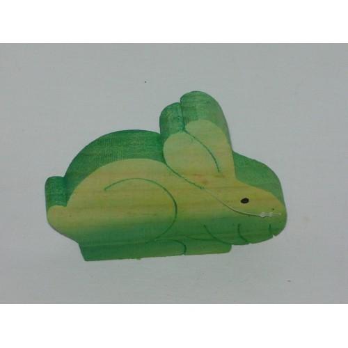Dřevěný zajíc 11x9cm Barva: zelená