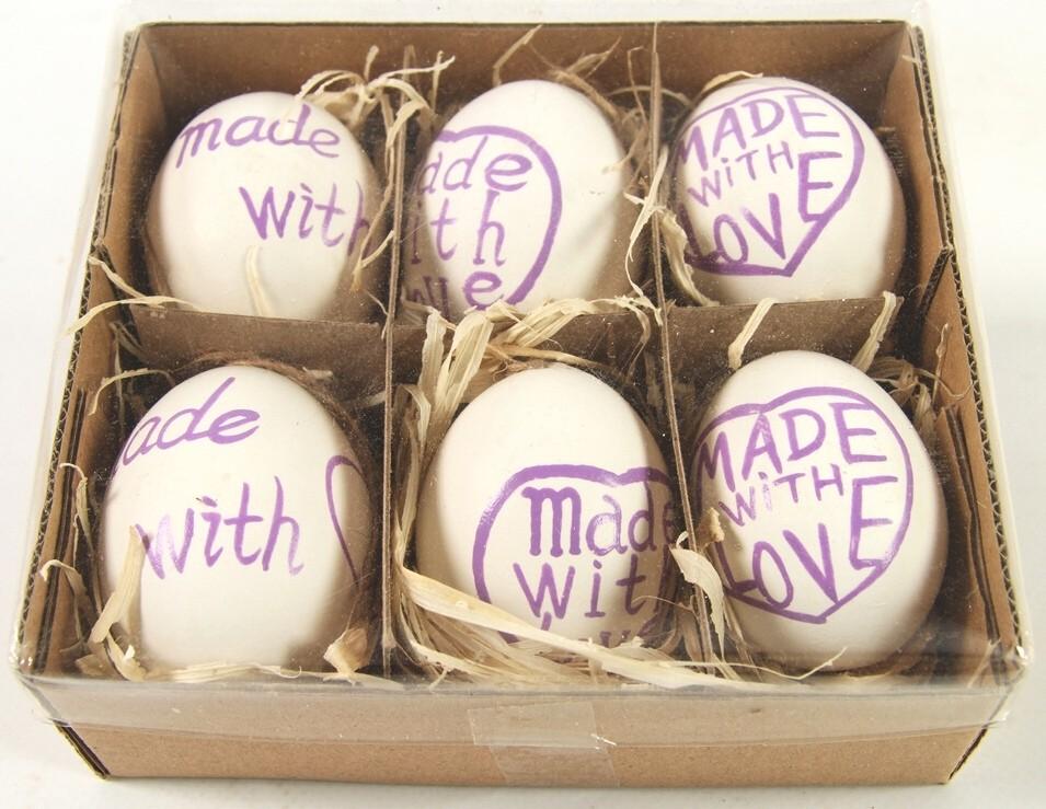 Velikonoční vajíčka barevná sada 6ks Barva: fialová
