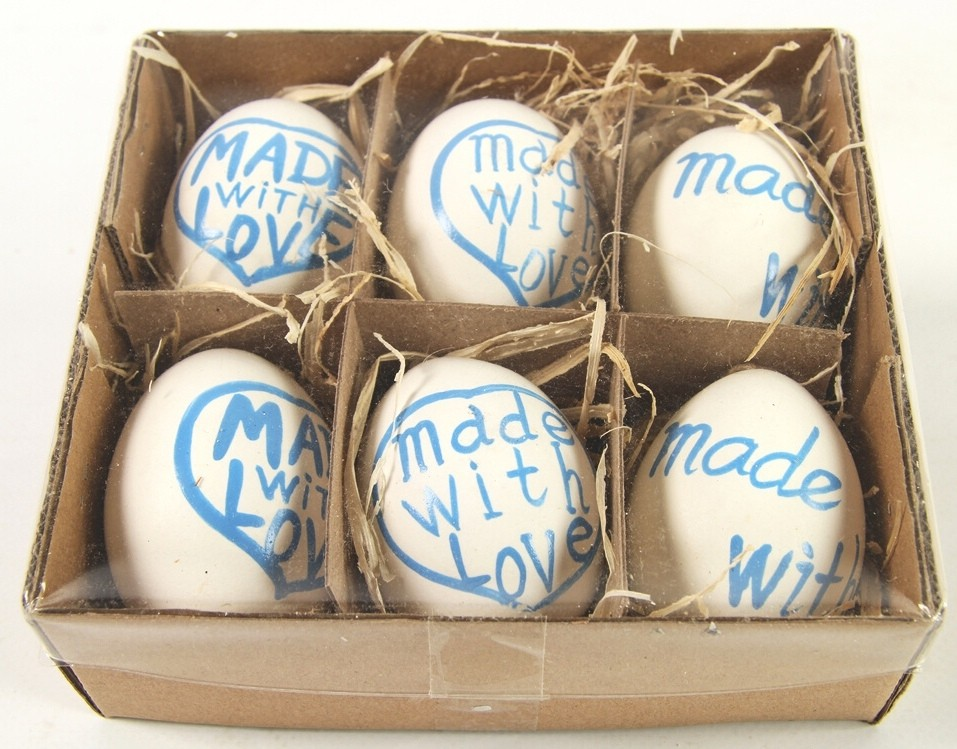 Velikonoční vajíčka barevná sada 6ks Barva: modrá