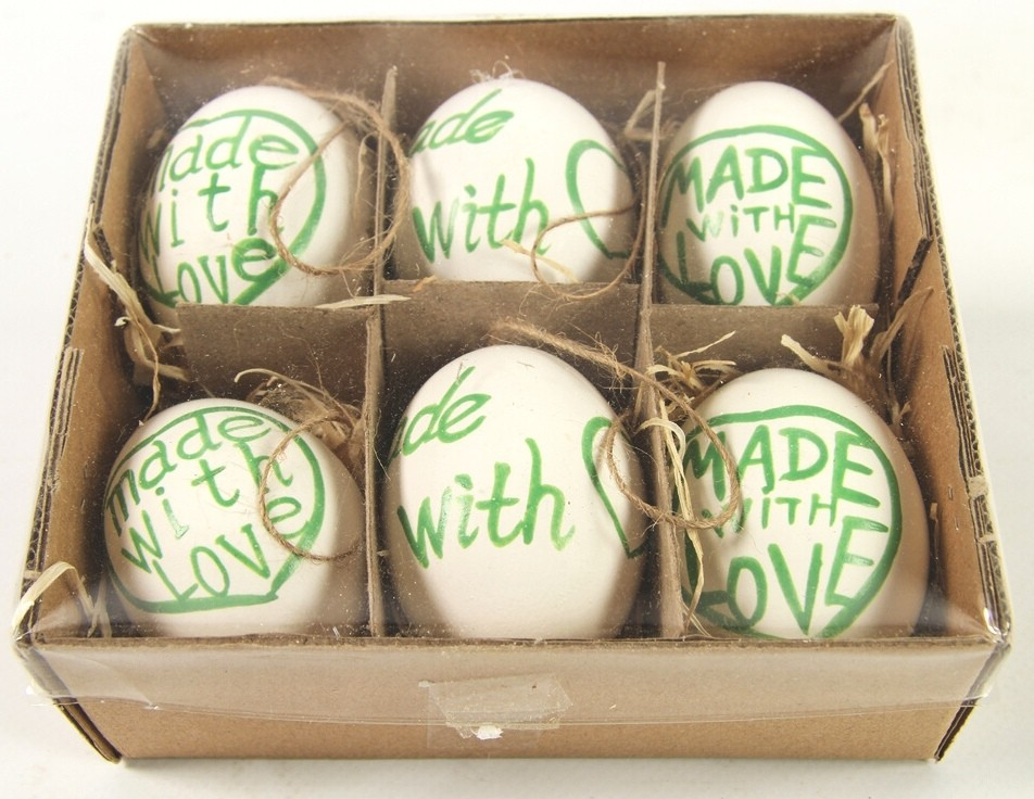 Velikonoční vajíčka barevná sada 6ks Barva: zelená