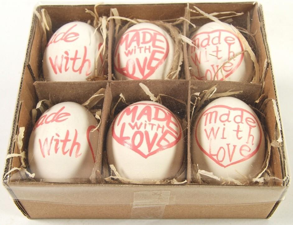 Velikonoční vajíčka barevná sada 6ks Barva: červená