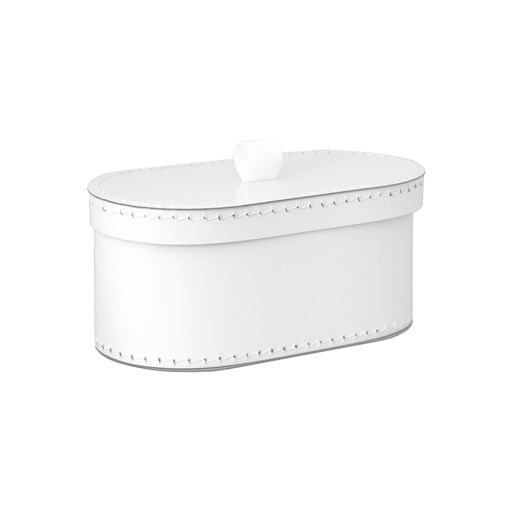 Kazeto Krabice oválná bílá svatební Velikost: střední