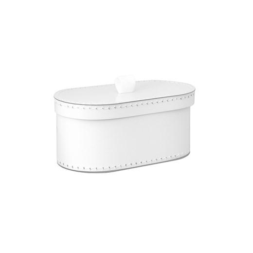 Kazeto Krabice oválná bílá svatební Velikost: malá