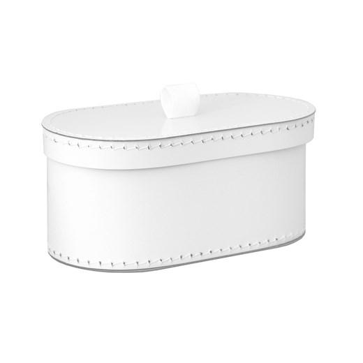 Kazeto Krabice oválná bílá svatební Velikost: velká