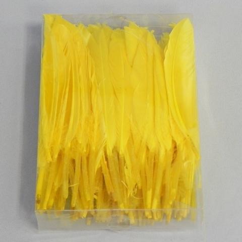 Peří brka dekorace 100Ks Barva: žlutá