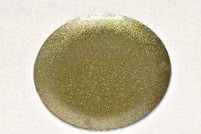 Tác skleněný zlatá perleť kruh Velikost: střední