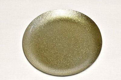 Tác skleněný zlatá perleť kruh Velikost: velký