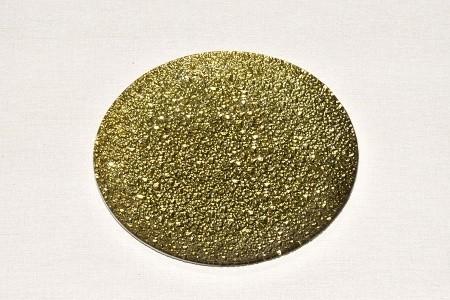 Tác skleněný zlatá mražená kruh Velikost: malý