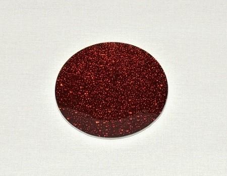 Tác skleněný červená mražená kruh Velikost: malý