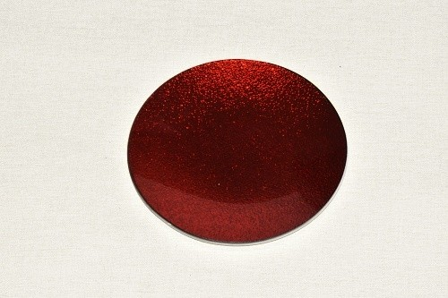 Tác skleněný červená perleť kruh Velikost: malý