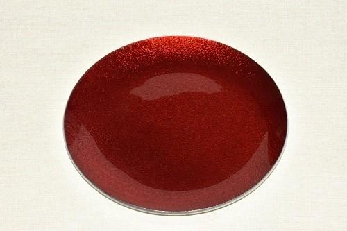 Tác skleněný červená perleť kruh Velikost: střední