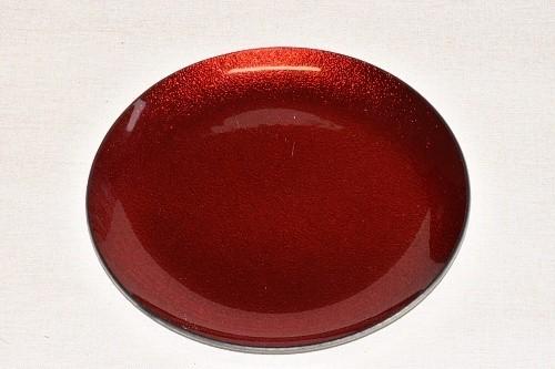 Tác skleněný červená perleť kruh Velikost: velký