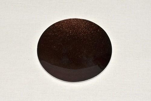 Tác skleněný hnědá perleť kruh Velikost: malý