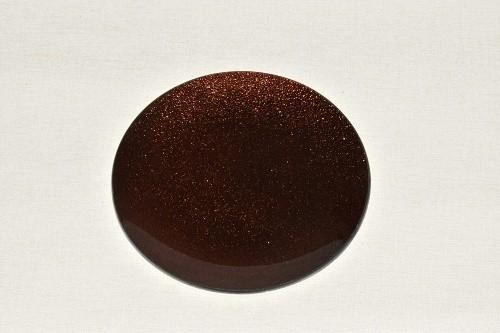 Tác skleněný hnědá perleť kruh Velikost: střední