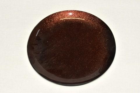 Tác skleněný hnědá perleť kruh Velikost: velký