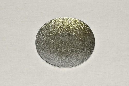 Tác skleněný stříbrná perleť kruh Velikost: malý