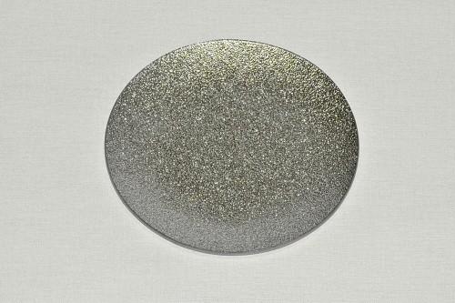 Tác skleněný stříbrná perleť kruh Velikost: střední