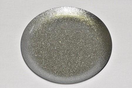 Tác skleněný stříbrná perleť kruh Velikost: velký