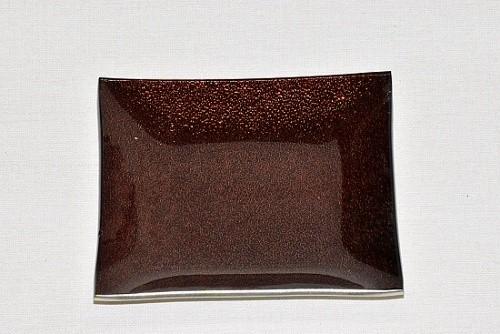 Tác skleněný hnědá perleť čtverec Velikost: malý