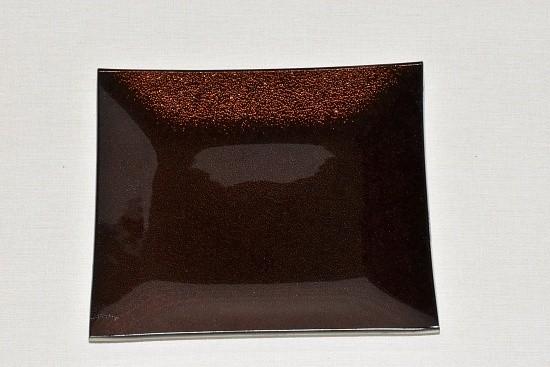 Tác skleněný hnědá perleť čtverec Velikost: střední