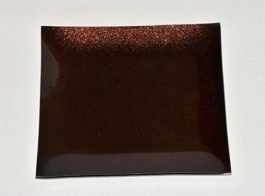 Tác skleněný hnědá perleť čtverec Velikost: velký