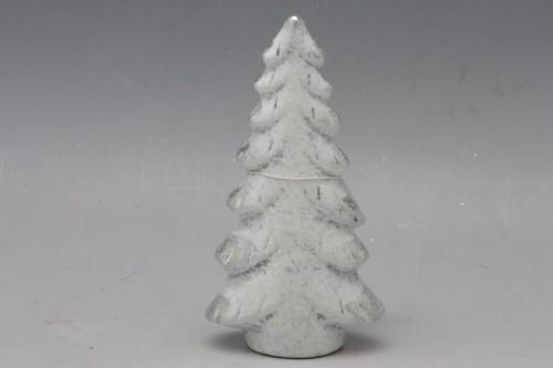 Keramický vánoční stromeček bílý Velikost: střední