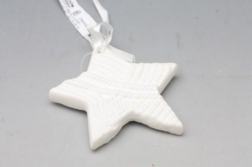 HR Hvězda porcelánová na zavěšení 10x1x10cm