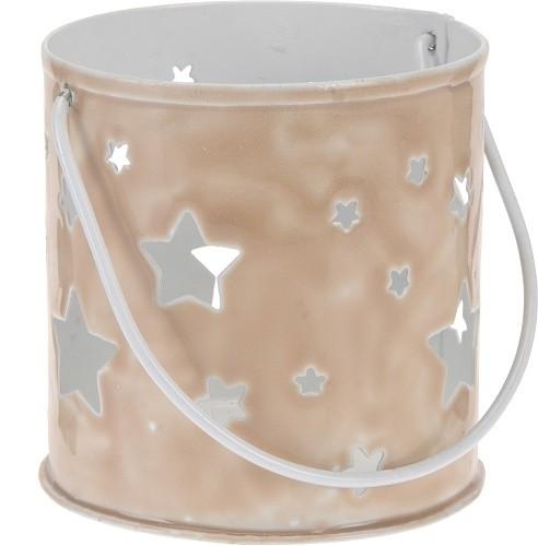 Svícen kovový s hvězdami champagne S motivem: motiv 2