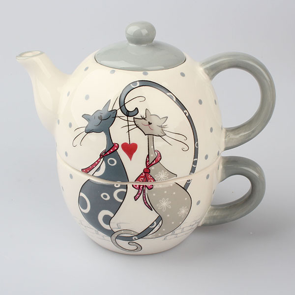 Casa de Engel Keramický set na čaj kočky