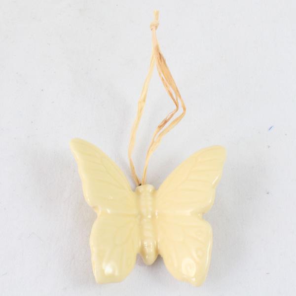 Casa de Engel Keramický motýlek závěs žlutý 4x4 cm