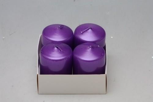 HR Adventní svíčky 5x4cm 4ks Barva: fialová