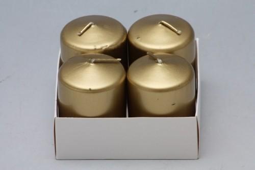 Adventní svíčky 5x4cm 4ks Barva: zlatá