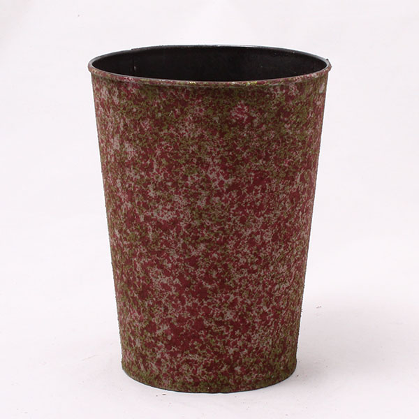 Obal na květiny červený 14,5 × 18 × 14,5 cm
