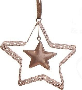 Harasim Vánoční dekorace měděná kov S motivem: hvězda