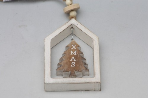 Vánoční dekorace v rámečku bílá S motivem: stromek