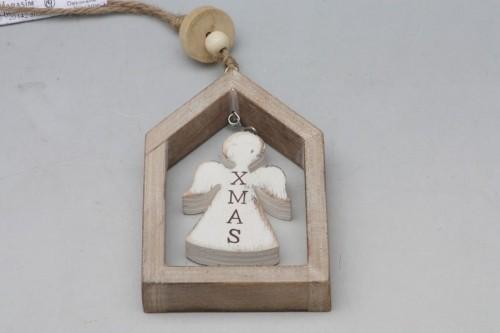Vánoční dekorace v rámečku hnědá S motivem: anděla