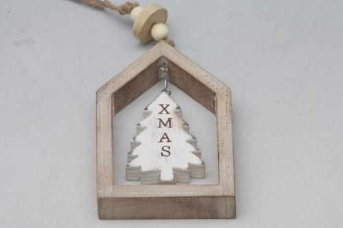 Vánoční dekorace v rámečku hnědá S motivem: stromek