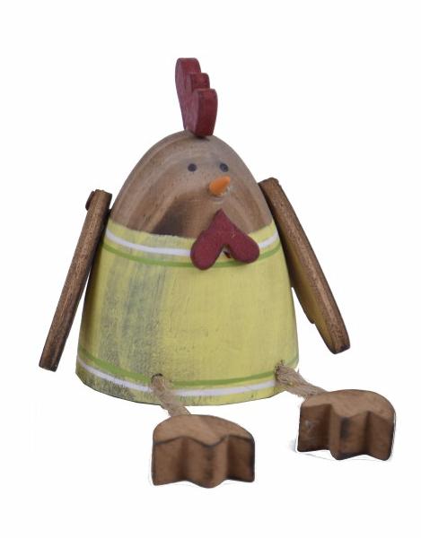Dekorace kuře dřevěné 16x6x6cm Barva: žlutá