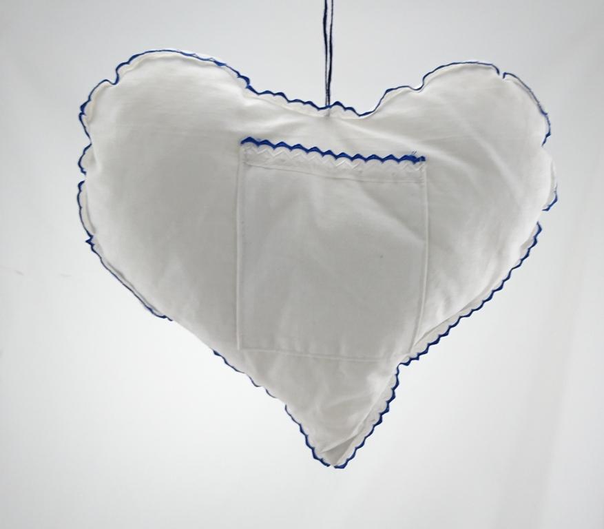 Srdce látkové Barva: modrá