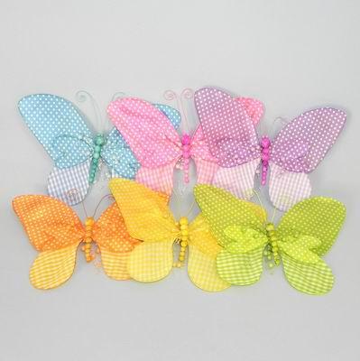 Kolíček motýl textil 26x20cm Barva: růžová