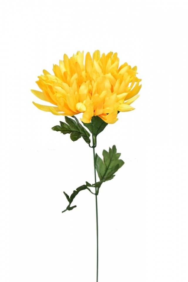 Harasim Květina umělá chryzantéma 55cm Barva  žlutá e5baf498f59
