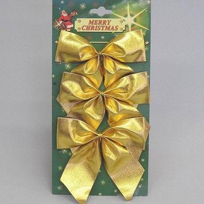 Mašle vánoční set 3ks Barva: zlatá