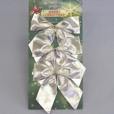 Mašle vánoční set 3ks Barva: stříbrná