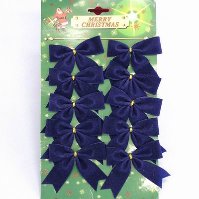 Mašle vánoční samet set 10ks Barva: modrá