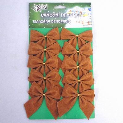 Mašle vánoční samet set 10ks Barva: bronzová