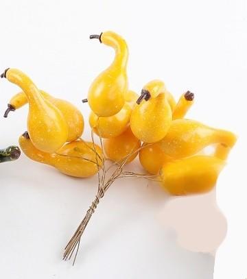 Dýně na drátku set 12ks Barva: žlutá