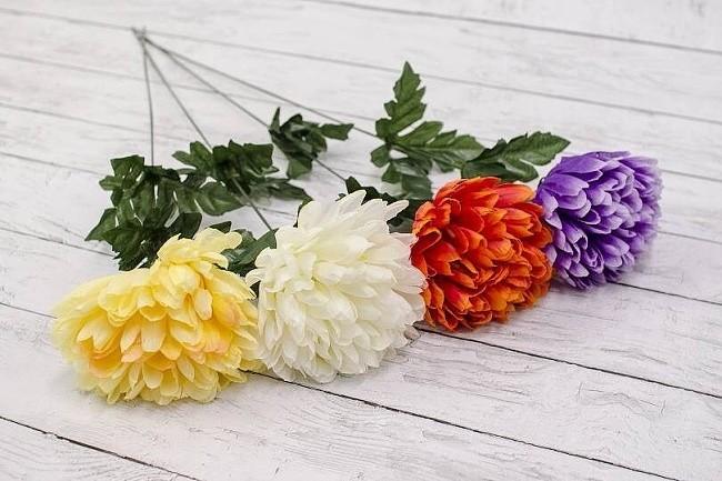 Květina umělá chryzantéma 57cm Barva: bílá