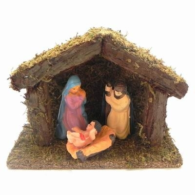 KA Betlém 3 figurky mech a dřevo Velikost: větší