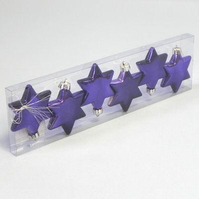 KA Vánoční ozdoba hvězda 6cm set 6ks Barva: fialová