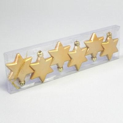 KA Vánoční ozdoba hvězda 6cm set 6ks Barva: zlatá